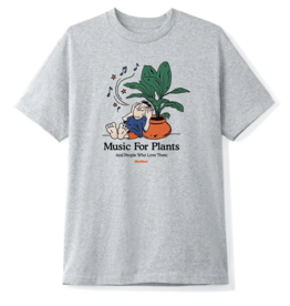Butter Goods Butter Goods Music For Plants T-Shirt - Ash Grey (size Large)