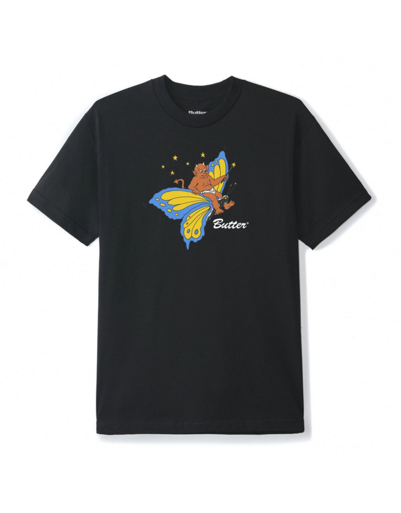 Butter Goods Butter Goods Butterfly T-Shirt - Black