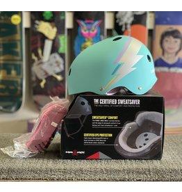 Triple 8 Triple 8 Certified Sweatsaver Helmet - Teal Hologram (size S/M)