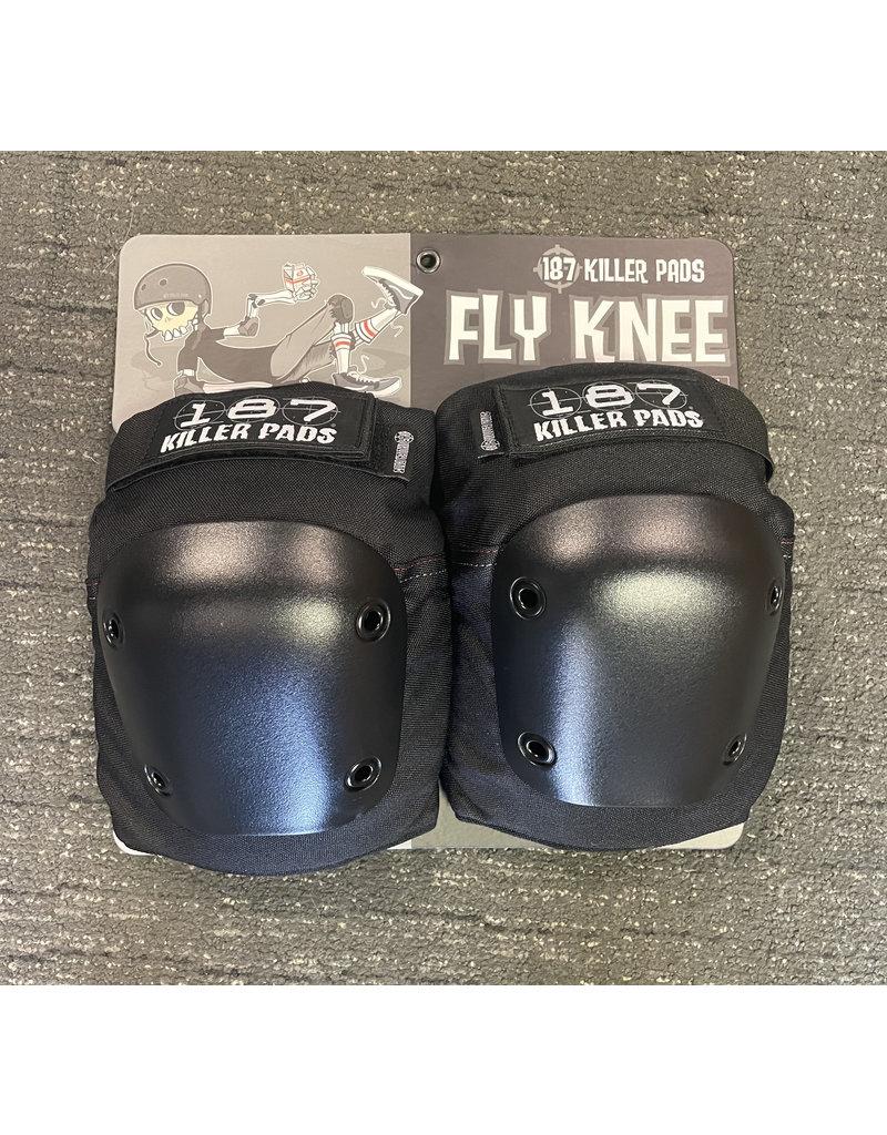 187 FLY KNEE BLACK//BLACK