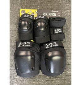 187 Killer Pads 187 Killer Pads 6 Pack - Black