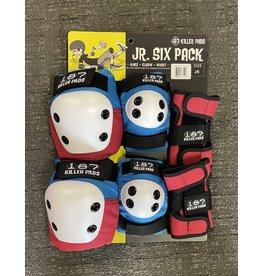 187 Killer Pads 187 Killer Pads 6 Pack Red/White/Blue - Junior