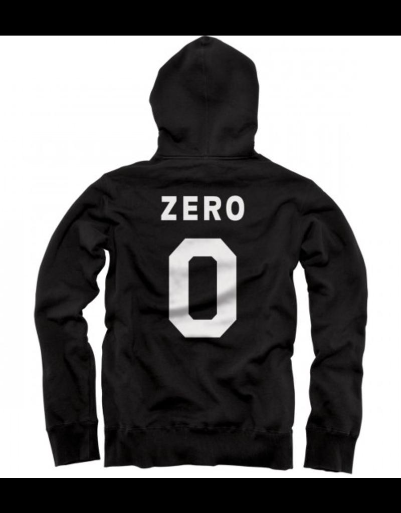Zero Zero Numero Zip-Up Hoodie - Black