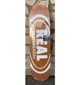 Real Real Team Oval Pearl Patterns Slick Orange Stain Deck - 8.25 x 32