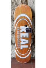 Real Real Team Oval Pearl Patterns Orange Stain Deck - 8.75 x 32.55