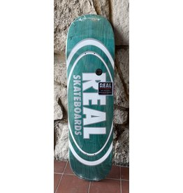 Real Real Team Oval Pearl Patterns Aqua Stain Deck - 8.75 x 32.55