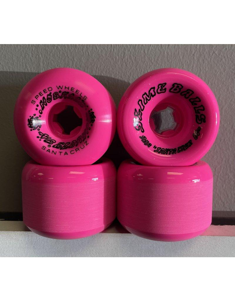 Slime Balls Slime Balls 60mm Scudwards Vomits Neon Pink 95a Wheels (set of 4)