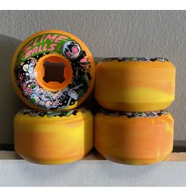 Slime Balls Slime Balls 56mm Astros Speed Balls Orange/Yellow Swirl 99a Wheels (set of 4)