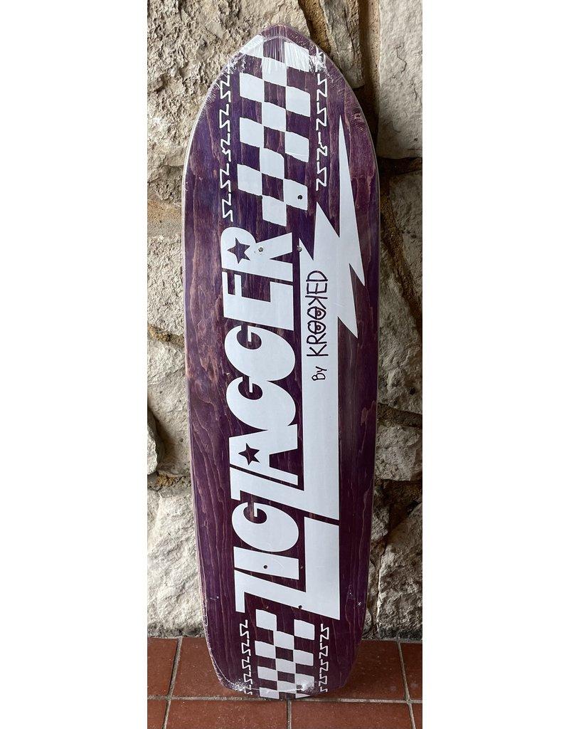 Krooked Krooked Zig Zagger Purple Stain Deck - 8.62