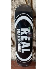 Real Real Team Classic Oval Black Deck - 8.25 x 32