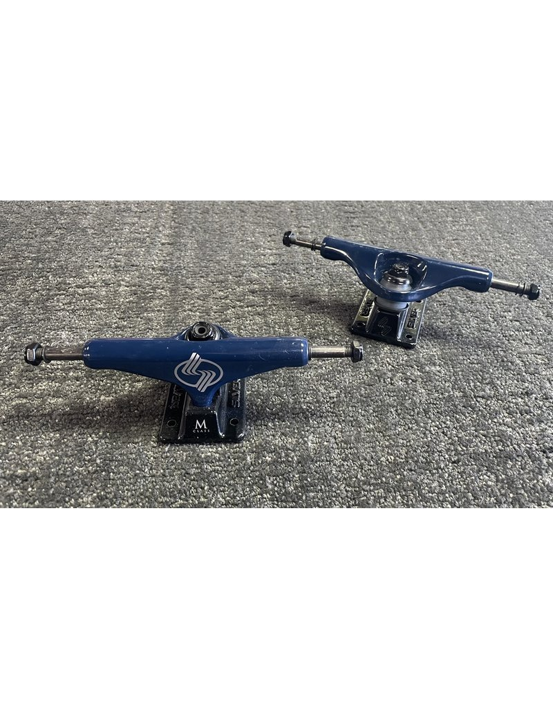 Silver Silver M-Class Hollow Blue Trucks 8.0 (set of 2)