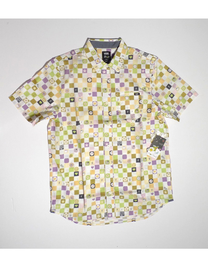 Vans Vans x Frog SS Button Up - White  (size Medium or Large)