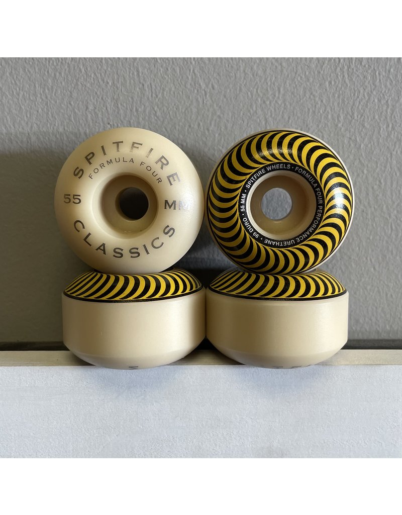 Spitfire Spitfire Formula Four Classic Yellow 55mm 99D Wheels (Set of 4)