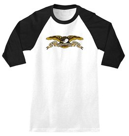 Anti-Hero Anti-Hero Eagle 3/4 Sleeve Shirt - White/Black