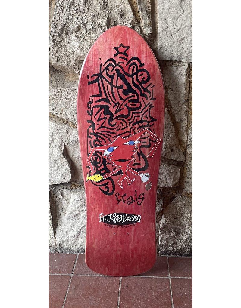 Frog Skateboards Frog Delusional Craig Red Deck - 10.125