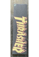 Mob Grip Mob Thrasher Yellow & Orange Flame Logo Grip Sheet   9""