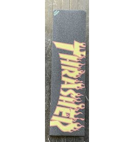 "Mob Grip Mob Thrasher Yellow & Orange Flame Logo Grip Sheet   9"""