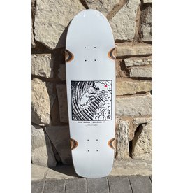 Polar Polar Shin Sanbongi Freedom White Deck - 8.75 x 31.5 Surf Jr. Special W/Wheel Wells