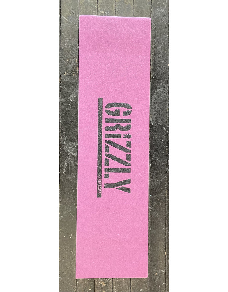 Grizzly Grizzly Stamp Necessities Pink/Black Grip Sheet 9""