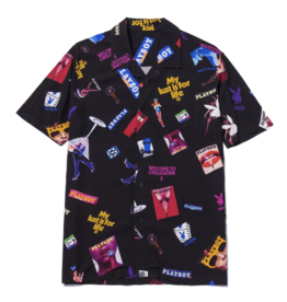 Huf Worldwide Huf Playboy Collage S/S Button Up - Black