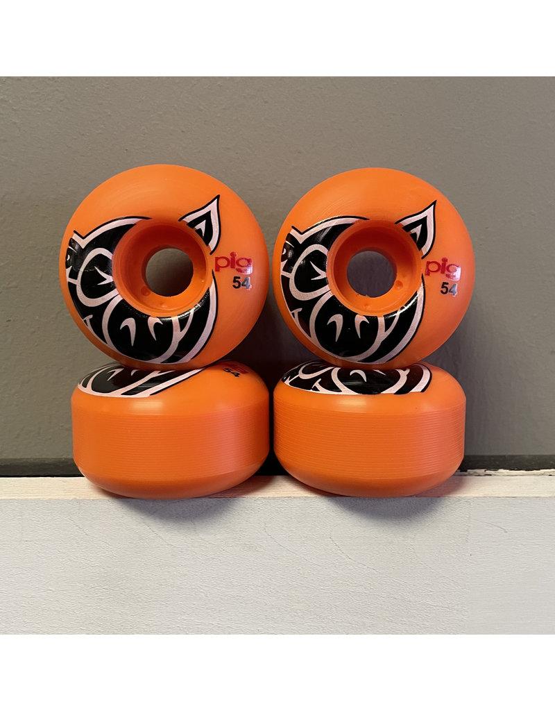 Pig Pig Head Proline Orange 54mm 101a Wheels (set of 4)