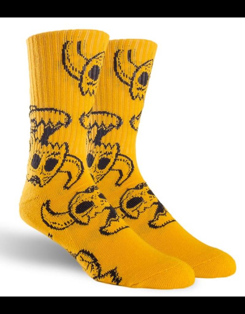 Toy Machine Toy Machine Monster Skull Sock - Mustard