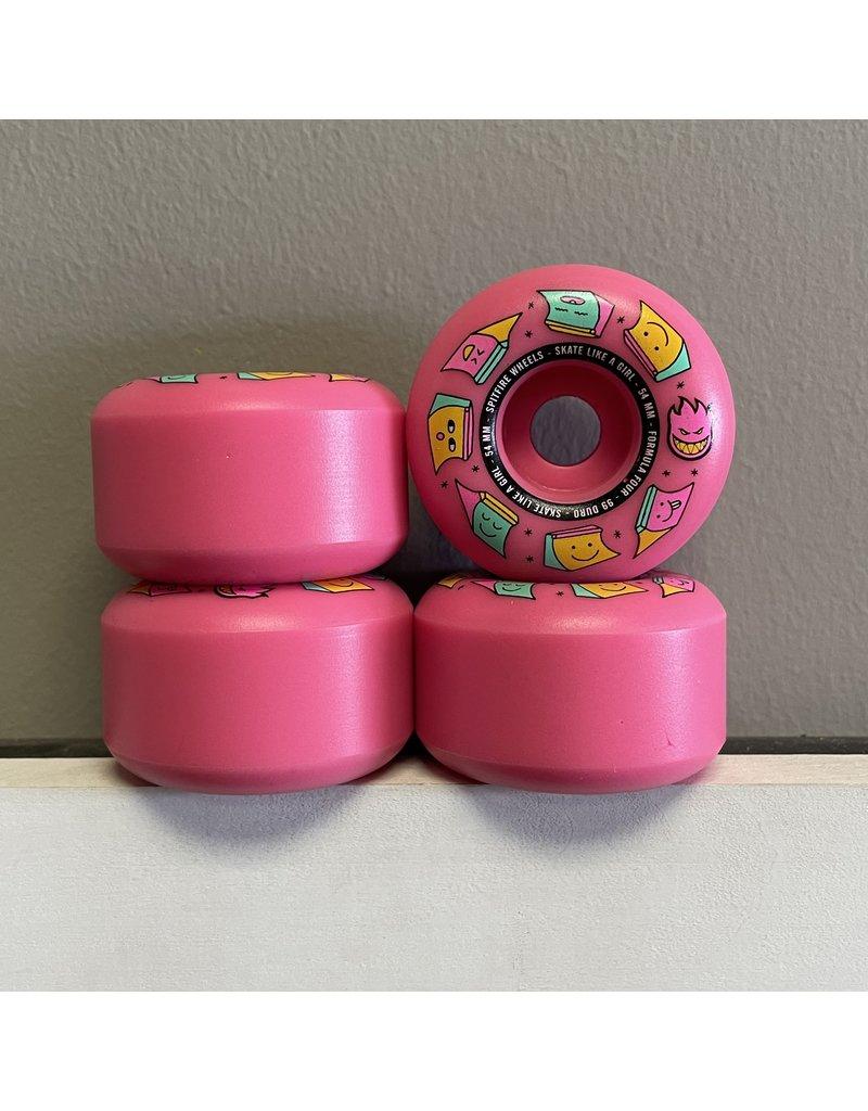 Spitfire Spitfire Formula Four Skate Like A Girl Radials Pink 54mm 99d Wheels (set of 4)