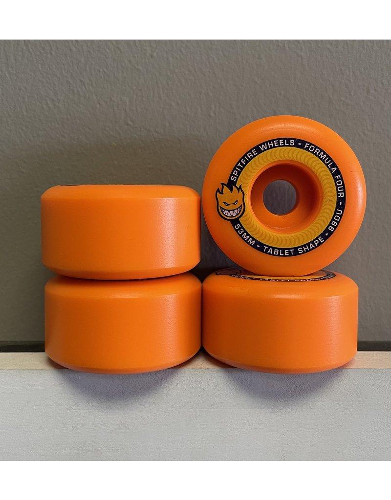 Spitfire Spitfire Formula Four Tablet Neon Orange 54mm 99d Wheel (set of 4)