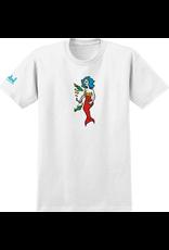 Krooked Krooked Mermaid T-shirt - White (size Large)