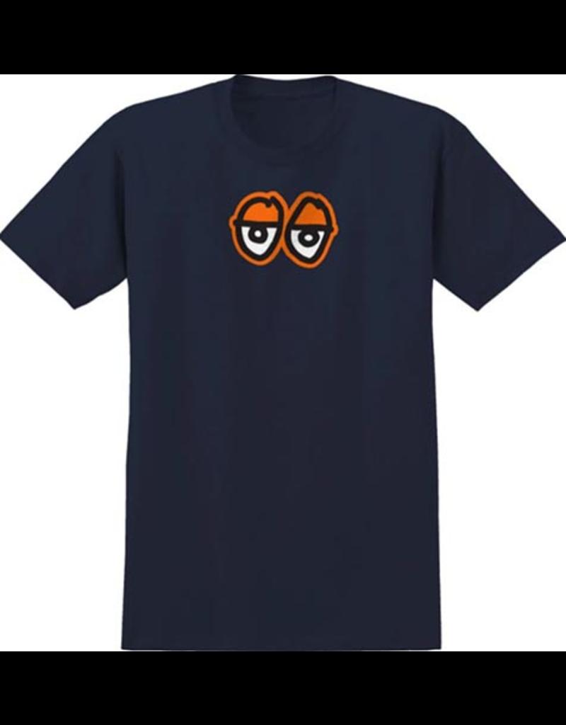 Krooked Krooked Eyes Large T-shirt - Navy/Orange