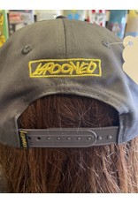 Krooked Krooked Moon Smile Snapback Hat - Grey/Yellow
