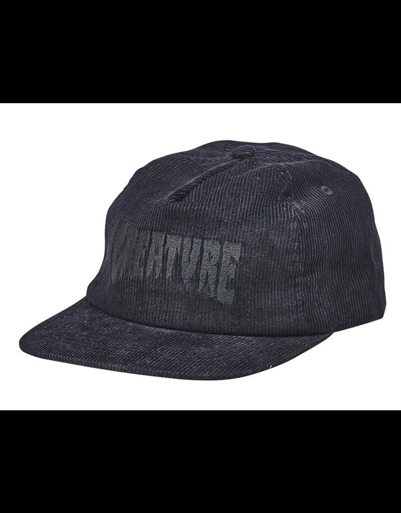 Creature Creautre Logo Fill Snapback Unstructured Mid Hat - Black