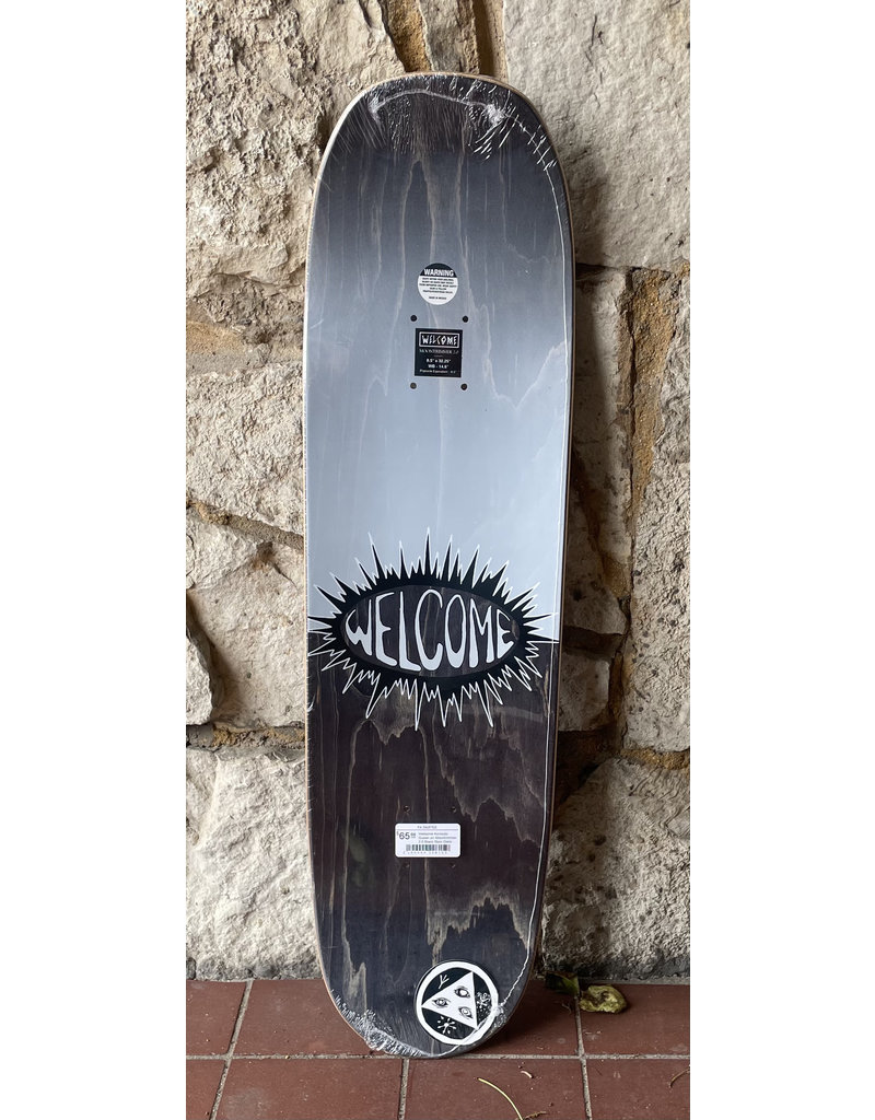Welcome Welcome Komodo Queen on Moontrimmer 2.0 Black Stain Deck - 8.5 x 32.25
