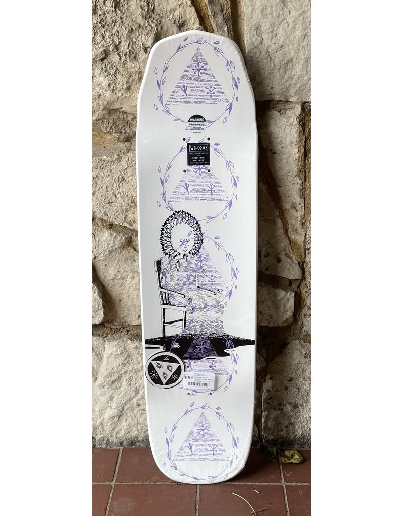 Welcome Welcome Nora Vasconcellos Soil on Wicked Princess White Dip Deck - 8.125 x 31.6