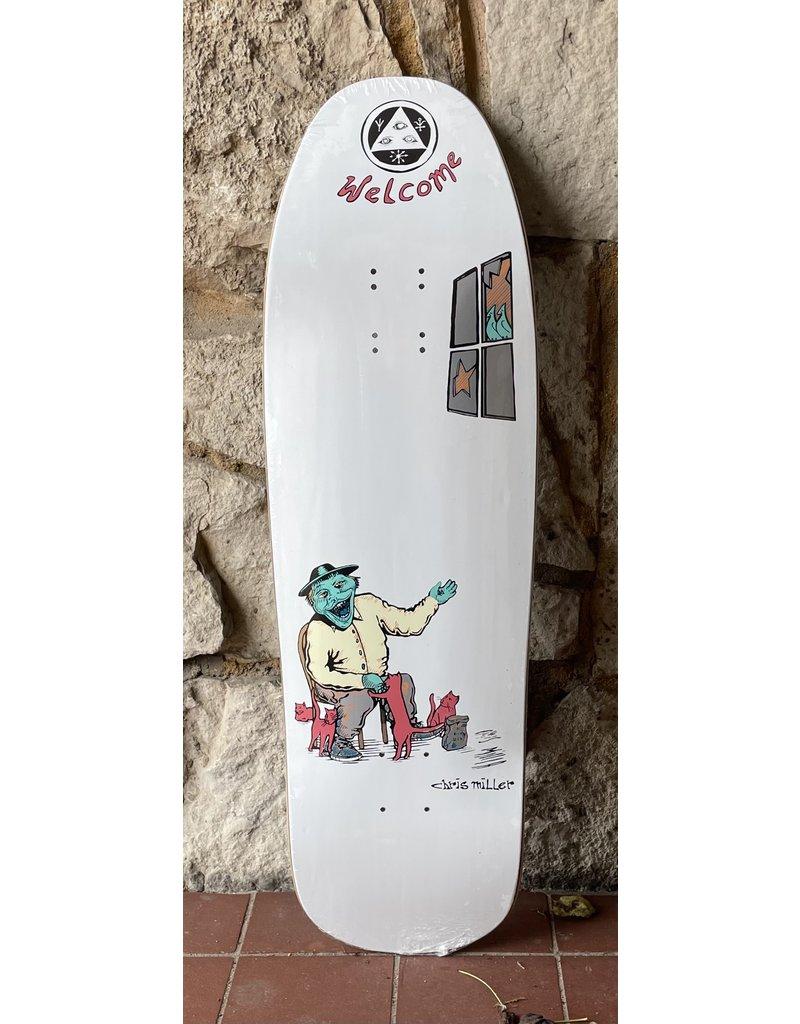 Welcome Welcome Chris Miller Bird Feeder on Gaia White Deck - 9.6 x 31.75