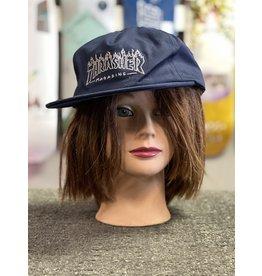 Thrasher Mag Thrasher Drunk Witch Snapback Hat - Navy