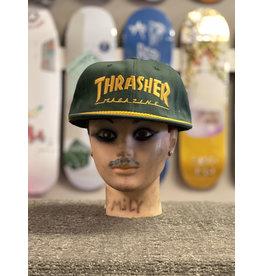 Thrasher Mag Thrasher Rope Snapback Hat - Green/Yellow