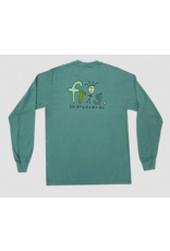 Frog Skateboards Frog Frog Man Logo Long Sleeve T-shirt - Grass Green