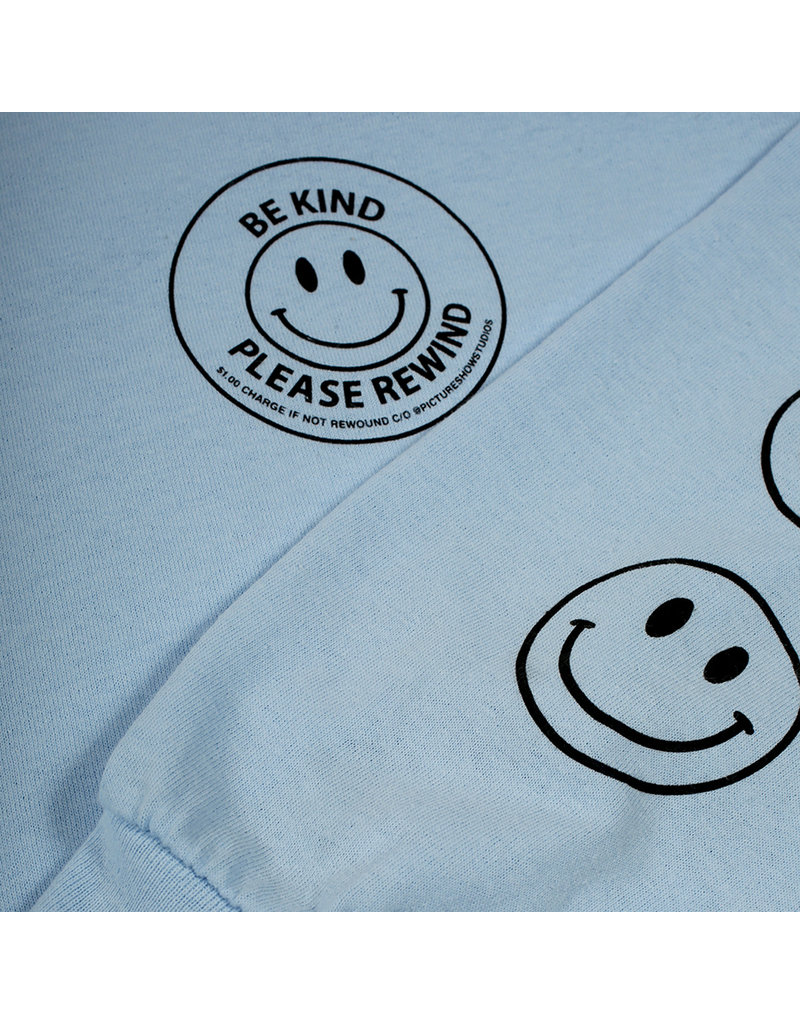 Theories Brand Picture Show Be Kind Longsleeve T-Shirt - Powder Blue