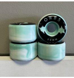 Orbs Orbs Specters Swirl Teal/White 52mm 99a Wheels (set of 4)