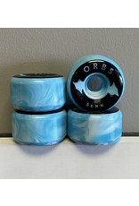 Orbs Orbs Specters Swirl Blue/White 56mm 99a Full Conical Wheels (set of 4)