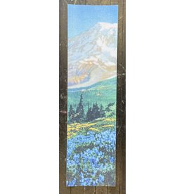 """Grizzly Grizzly 9"""" Antique Postcard Blue Flowers Perforated Sheet"""