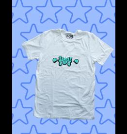 404 404 Throwup T-shrt - White (size medium)