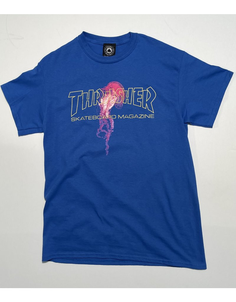 Thrasher Mag Thrasher Atlantic Drift T-shirt - Royal Blue