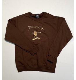 Thrasher Mag Thrasher Gonz V2 Crew Neck - Chocolate