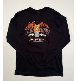 Thrasher Mag Thrasher Alley Cats Long Sleeve T-shirt - Black