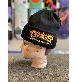 Thrasher Mag Thrasher Fire Logo Beanie - Black