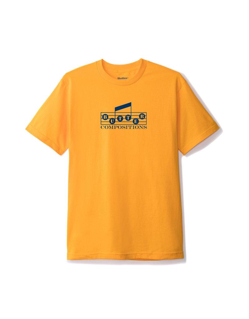 Butter Goods Butter Goods Compositions T-shirt - Gold
