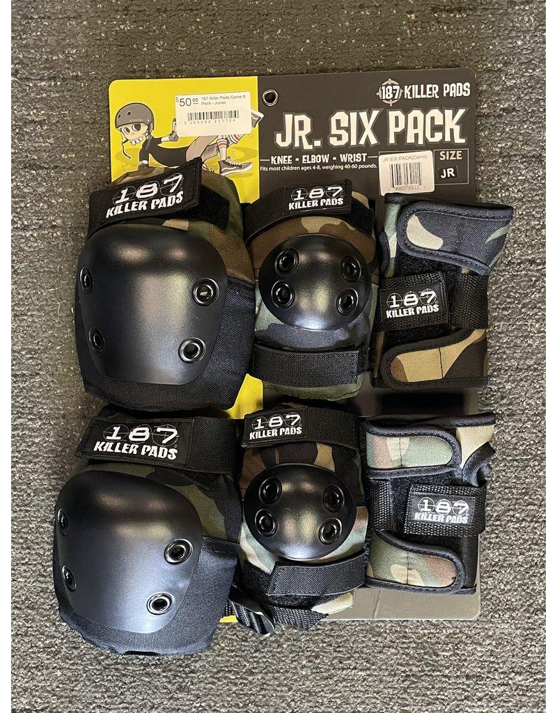 187 Killer Pads 187 Killer Pads Camo 6 Pack - Junior