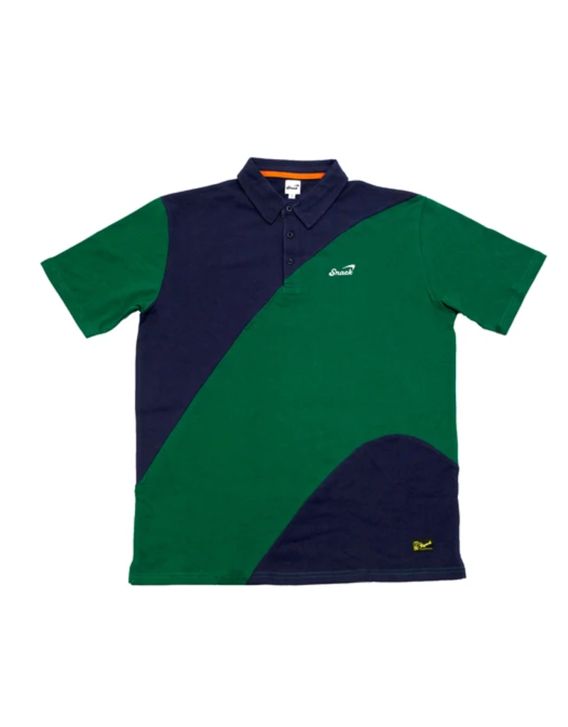 Snack Snack Alive Wave Polo - Navy/Green